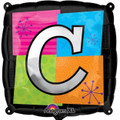 Letter Balloons - C - 18 Inch - Square