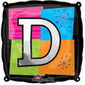 Letter Balloons - D - 18 Inch - Square