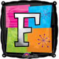Letter Balloons - F - 18 Inch - Square