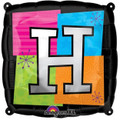 Letter Balloons - H - 18 Inch - Square