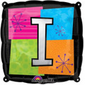 Letter Balloons - I - 18 Inch - Square