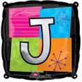 Letter Balloons - J - 18 Inch - Square