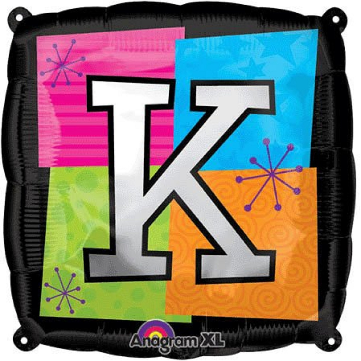 Letter Balloons - K - 18 Inch - Square