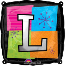 Letter Balloons - L - 18 Inch - Square