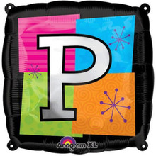 Letter Balloons - P - 18 Inch - Square