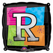 Letter Balloons - R - 18 Inch - Square