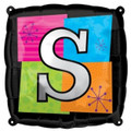 Letter Balloons - S - 18 Inch - Square