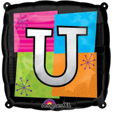 Letter Balloons - U - 18 Inch - Square