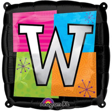 Letter Balloons - W - 18 Inch - Square