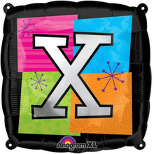 Letter Balloons - X - 18 Inch - Square