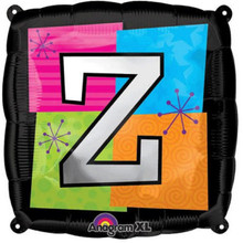 Letter Balloons - Z - 18 Inch - Square