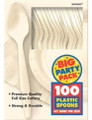 Party Favors - Big Party Pack - Vanilla - Plastic Spoons - 100ct