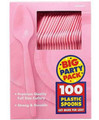 Party Favors - Big Party Pack - New Pink - Plastic Spoons - 100ct
