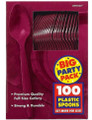 Party Favors - Big Party Pack - Berry - Plastic Spoons - 100ct
