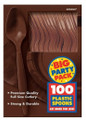 Party Favors - Big Party Pack - Brown - Plastic Spoons - 100ct