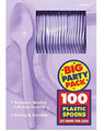 Party Favors - Big Party Pack - Lavender - Plastic Spoons - 100ct
