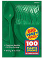 Party Favors - Big Party Pack - Festive Green - Plastic Spoons - 100ct