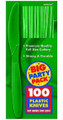 Party Favors - Big Party Pack - Festive Green - Plastic Knives - 100ct