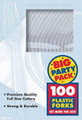 Party Favors - Big Party Pack - Clear - Plastic Forks - 100ct