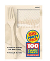 Party Favors - Big Party Pack - Vanilla - Plastic Forks - 100ct