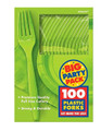 Party Favors - Big Party Pack - Kiwi - Plastic Forks - 100ct