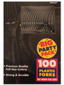 Party Favors - Big Party Pack - Black - Plastic Forks - 100ct