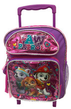Paw Patrol Small Rolling 12 inch Backpack - Girl, Pink