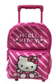 Hello Kitty Small Rolling 12 inch Backpack - Candy Stripes