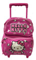 Hello Kitty Small Rolling 12 inch Backpack - Letters