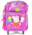 Backpack - Peppa Pig - Small Rolling - 12 inch - Pink