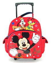 Backpack - Mickey Mouse - Small Rolling - 12 inch - Red