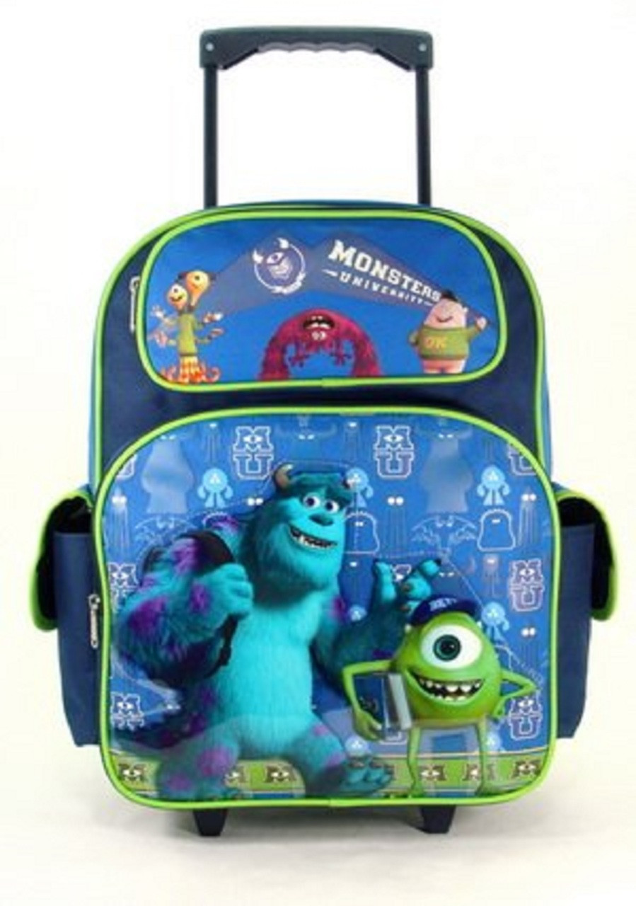 Monsters University Large 16 Inch Rolling Backpack