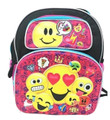 Emoji - Small 12 Inch - Pink - Backpack - Emoji Love