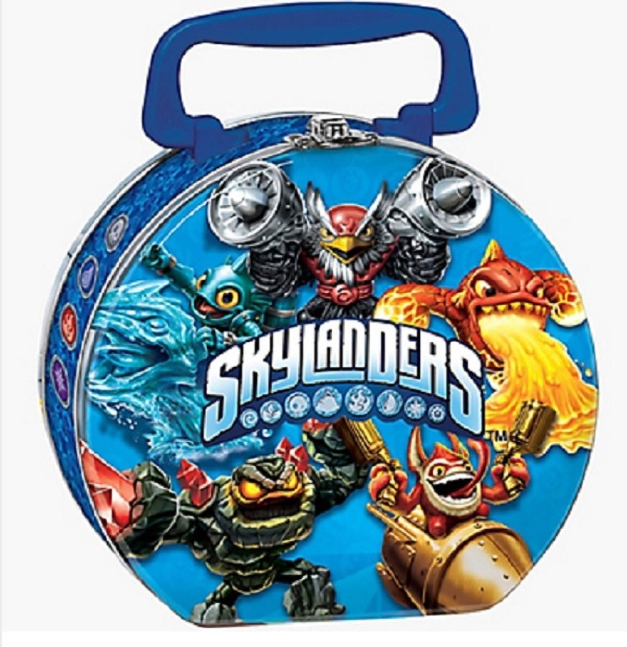 Skylanders - Collectible Tin Box - Round - Blue - Party Favors