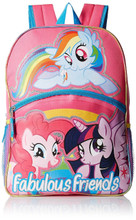 Backpack - My Little Pony - Large 16 Inches - Pink - Fabulous Friends