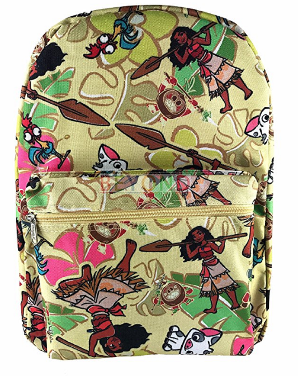 Backpack - Moana - Large 16 Inches - Cream - All Over Print