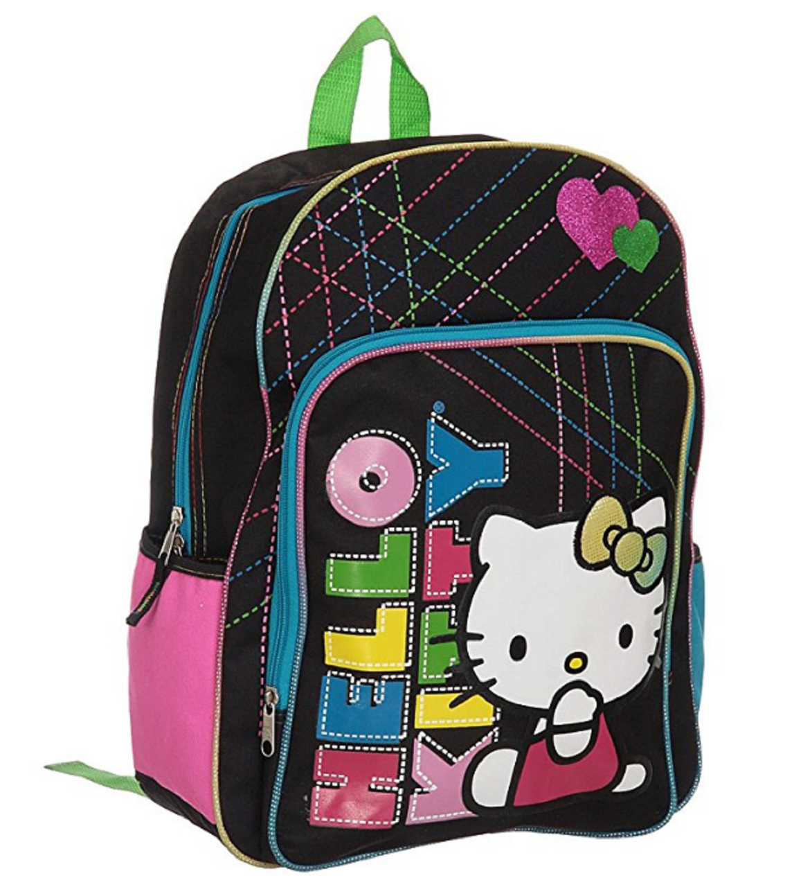 7e80b47b54e6 Backpack - Hello Kitty - Large 16 Inches - Letters Multicolored