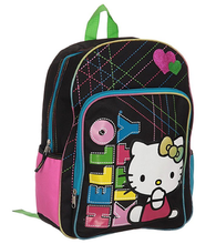 Backpack - Hello Kitty - Large 16 Inches - Letters Multicolored