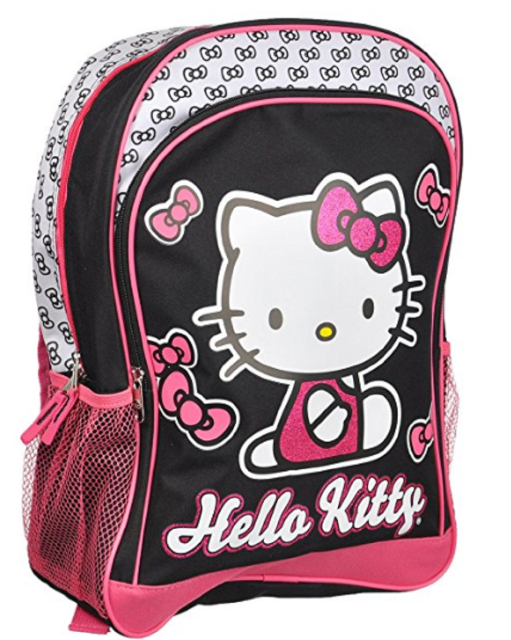 10172a466de1 Backpack - Hello Kitty - Large 16 Inches - Black and Glittery