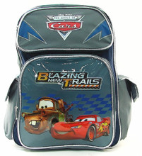 Backpack - Cars - Large 16 Inches - Gray Blue - Blazing New Trails