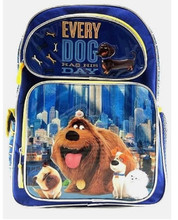 Backpack - Secret Life of Pets - Large 16 Inch - Blue Yellow