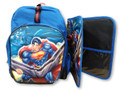 Backpack - Superman - Large 16 Inch - w Bonus Organizer