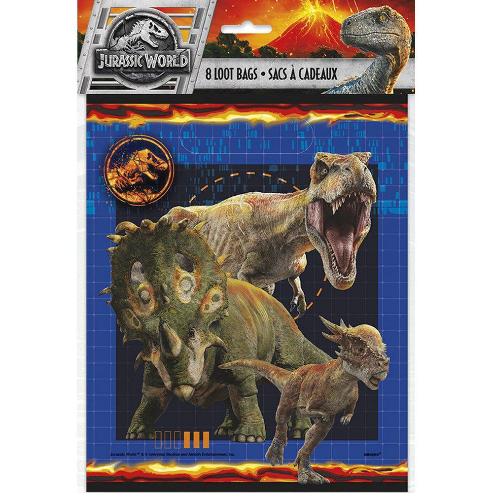 Jurassic World Loot Bags 8ct Party Supplies