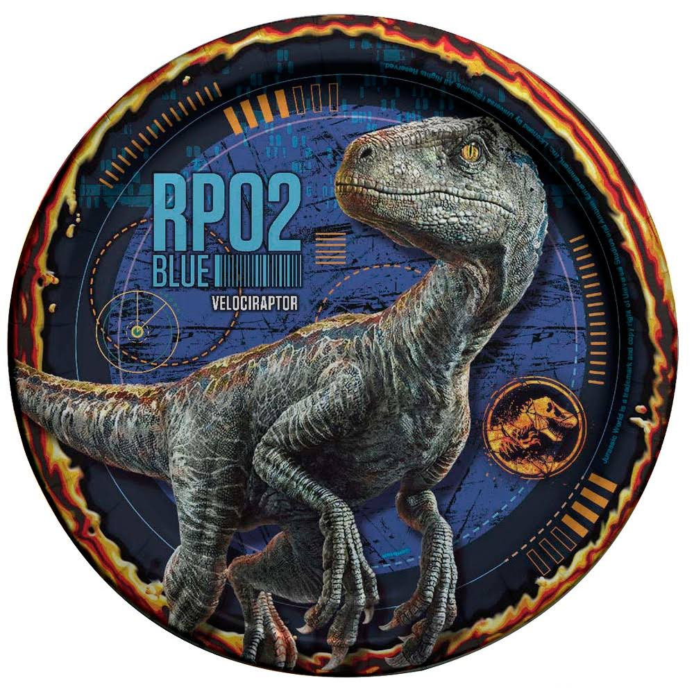 Jurassic World Small Plates 8ct Party Supplies