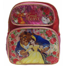 Backpack - Belle Beauty and the Beast - Small 12 Inch - Pink
