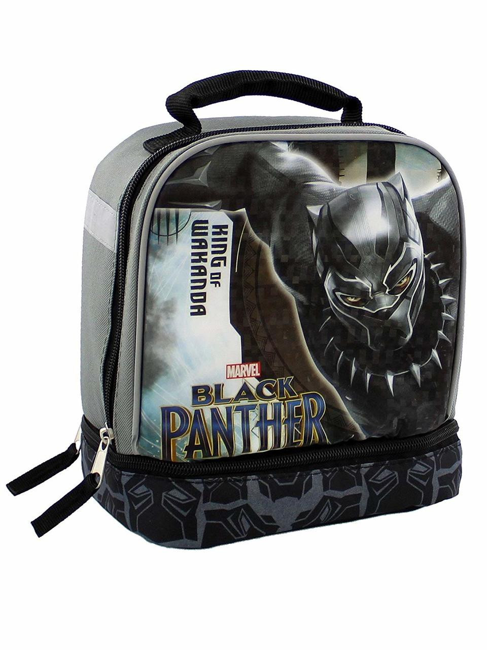 Black Panther dual compartment insulated lunch box