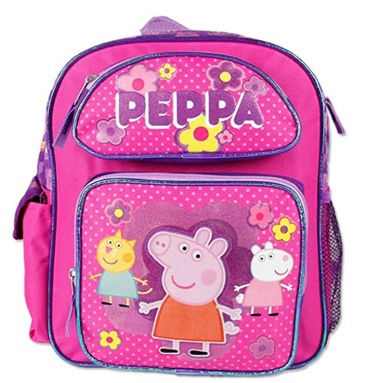 Backpack - Peppa Pig - Small 12 Inch - Glittery