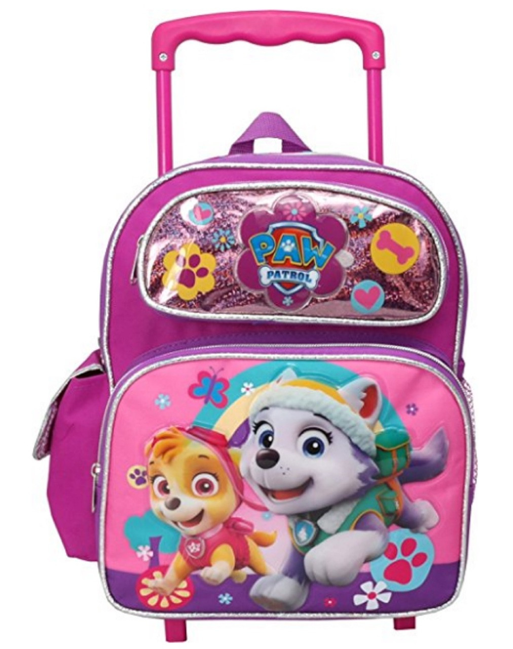 Paw Patrol Girl Small 12 Inch Rolling Backpack