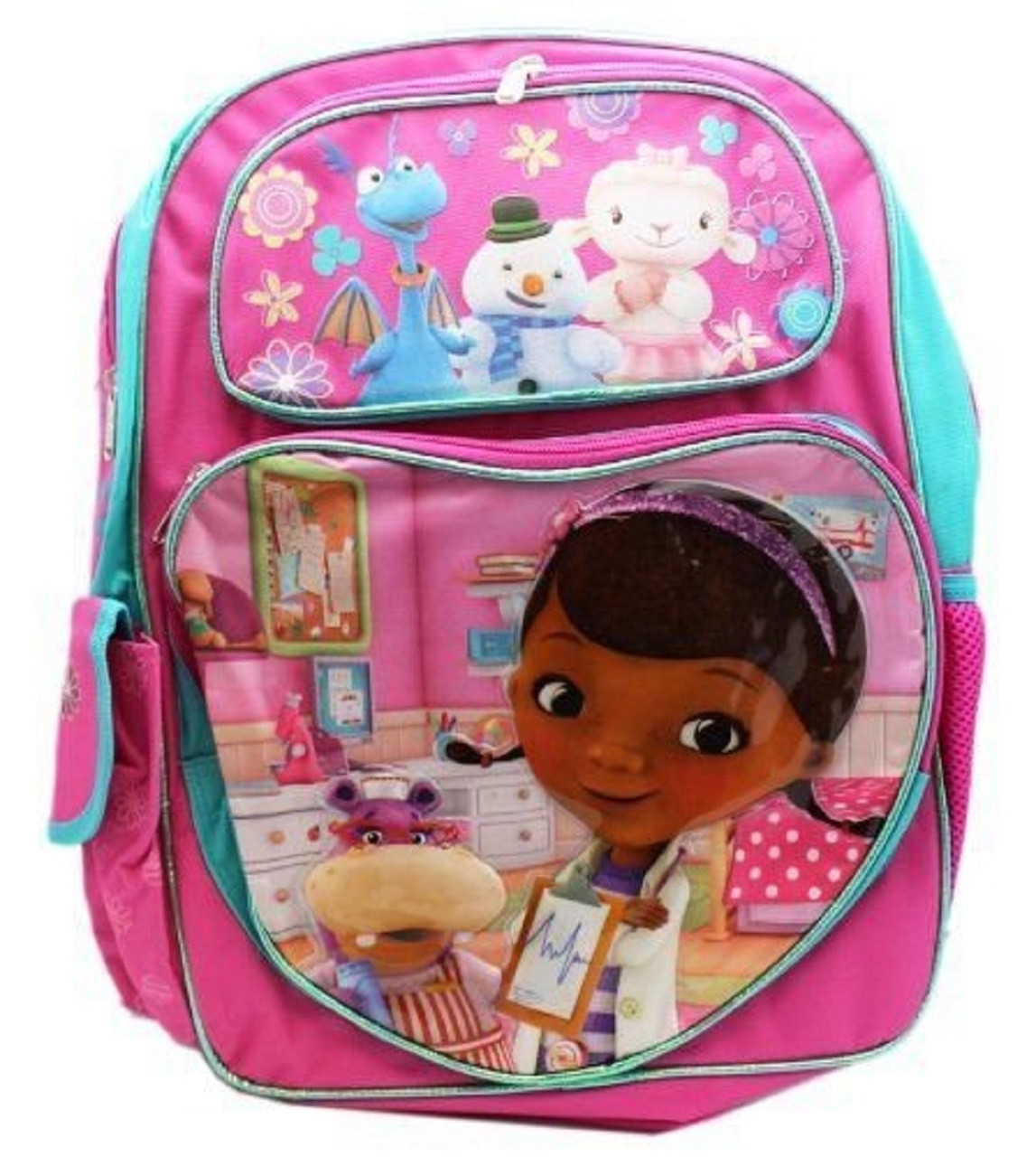 Backpack - Doc McStuffins - Large 16 Inch - Heart Pocket