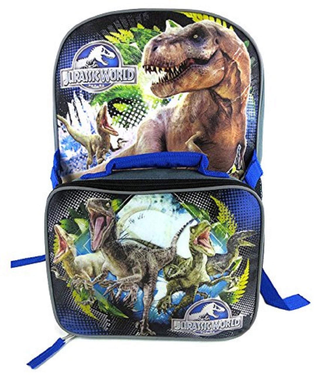 Backpack - Jurassic World - Large 16 Inch - w Lunch Box
